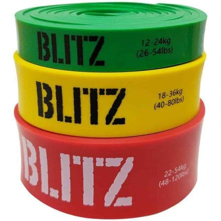 Blitz Rubber Resistance Band Home Exercise Gym Training